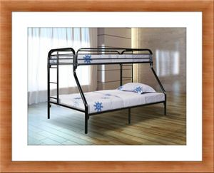 Black full bunkbed frame free mattress for Sale in Temple Hills, MD