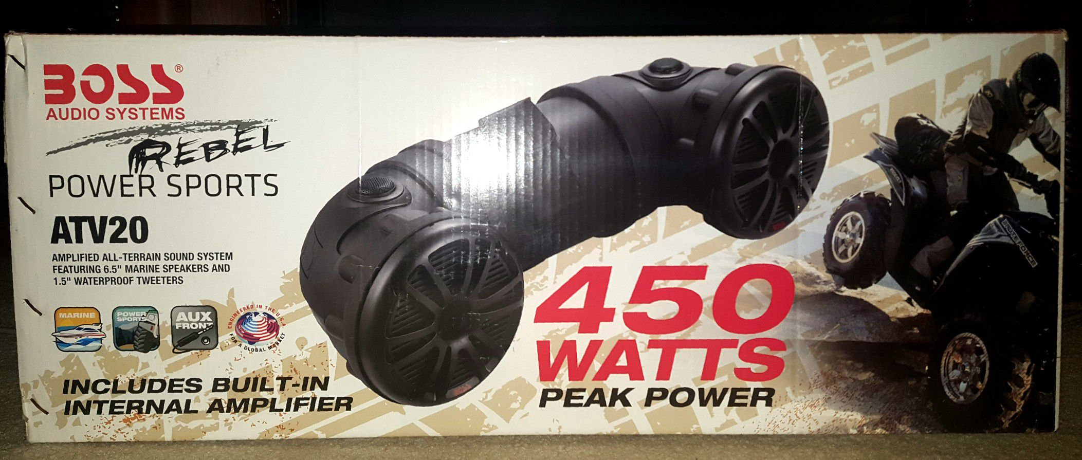 Rebel Power Sports ATV20 Outdoor Sound System by Boss Audio