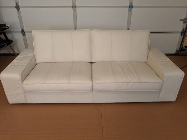 Ikea Kivik White Leather Sofa for Sale in Tracy, CA - OfferUp