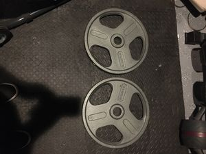 Photo (2) Weider 45LBS Olympic plates.