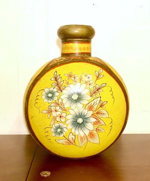 Vintage Hand Painted Indian Decor Metal Vase or Pot for Sale in Austin, TX