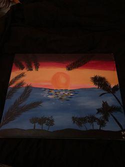 Good sun rise painting Thumbnail