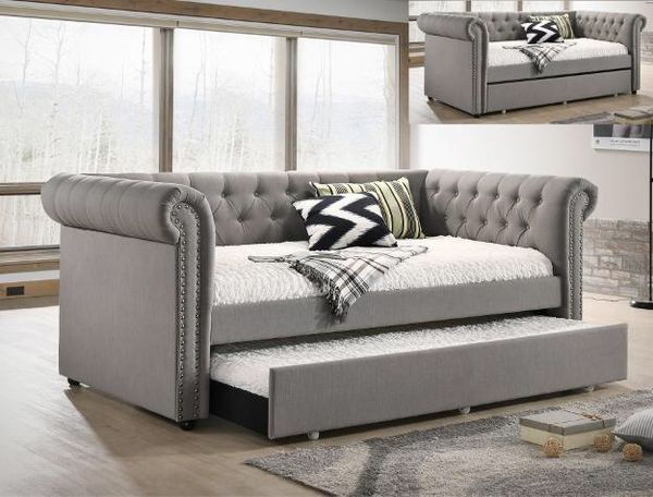 Ellie gray twin daybed with trundle 5332 for sale in houston tx