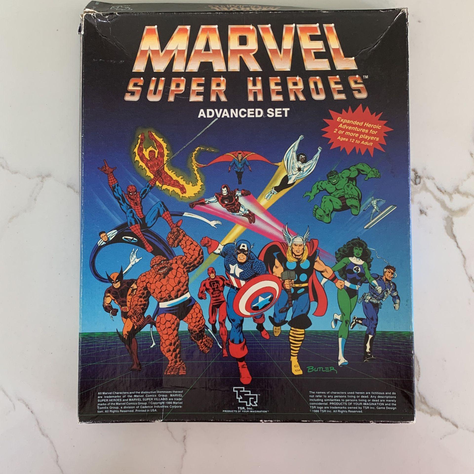 Marvel Super Heroes Advanced  Set Vintage