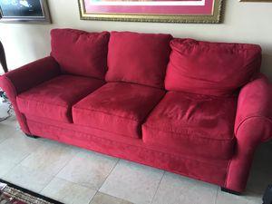 Red Microfiber Sofa Couch for Sale in Miami, FL