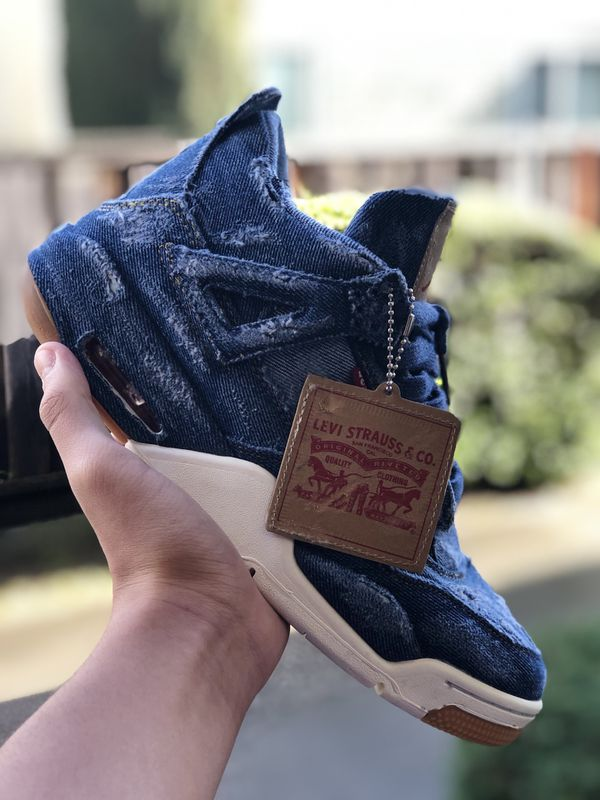 "more photos 52076 ae615 Levi's x Jordan 4 ""DISTRESSED DENIM"" for Sale in Alameda, CA - OfferUp"