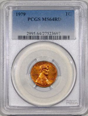 Photo 1979 Lincoln Cent PCGS MS-64 RED