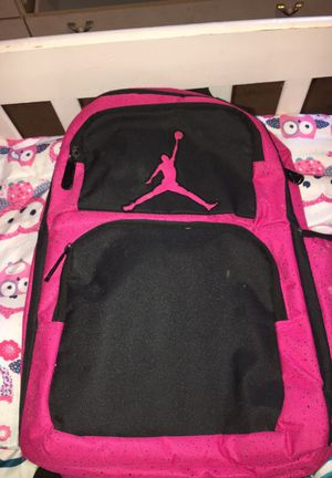 black and pink air jordan backpack for sale in cahokia il offerup ... 394d71a1483bb