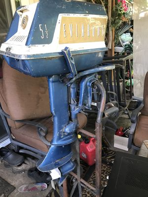 1960 Vintage Johnson EVINRUDE Fisherman 5.5HP Outboard Boat MOTOR for Sale in Vancouver, WA