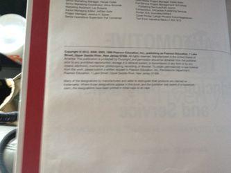 AUTOMOTIVE TECHNOLOGY PRINCIPLES, DIAGNOSTICS, & SERVICE, FOURTH EDITION Thumbnail