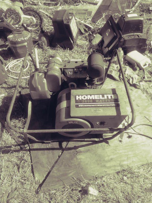 pictures of vintage homelite generators