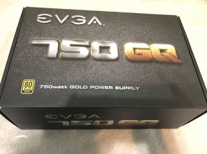 EVGA 750W, 80+ Gold PSU Power Supply EVGA 750 GQ, 80+ Gold 750W, Power Supply PSU for Sale in Fairfax, VA