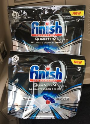 2 packages Finish Quantum dishwasher tabs for Sale in Fort Hunt, VA