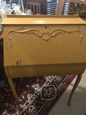 Dark Mustard Yellow Drop Leaf Writing Desk For In Austin Tx