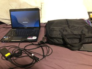 Toshiba laptop (charger included) , laptop case for Sale in Manassas, VA