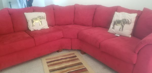 Red sectional couch (Furniture) in Charlotte, NC - OfferUp
