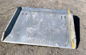 Photo Copperloy Truck Loading Dock Plate Board Forklift Ramp Aluminum Diamond 12000 lb Cap