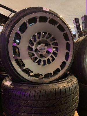 Photo Rotiform ccv 20x10 wheels tires 25mm offset 5x112 Audi A4 a6 rs5 s4 Jetta golf Passat Mercedes gti