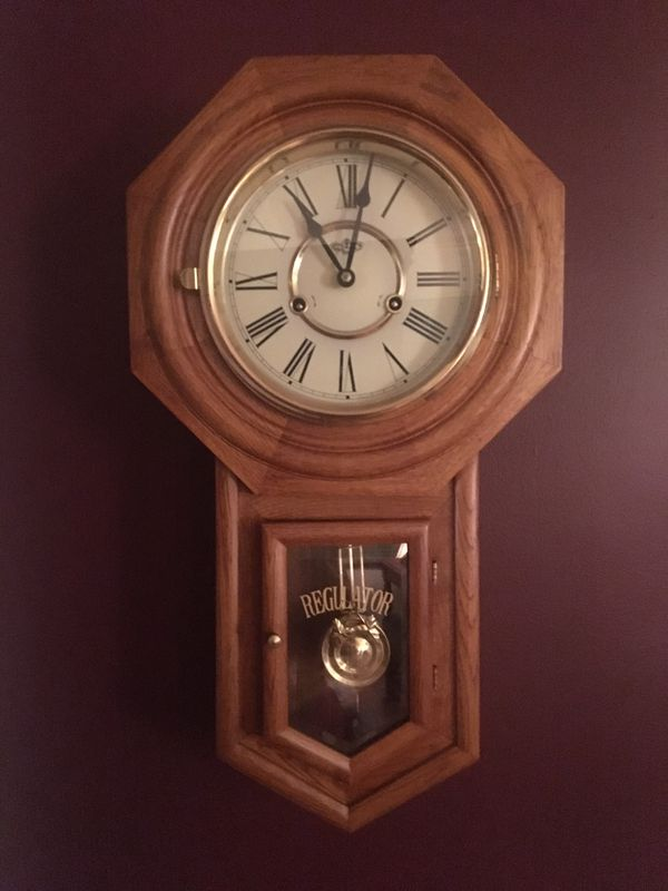 Antique Regulator Wall Clock For