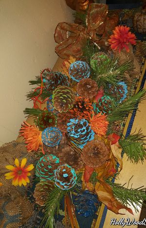 Fall Decor Centrepiece. Upcycled. for Sale in Roswell, NM