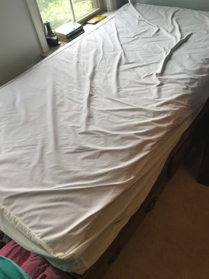 Wood framed twin bed frame and mattress for Sale in Arlington, VA