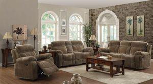3PC Mocha Velvet Upholstery Reclining Living Room Set $436.00 – $2,092.00 for Sale in Seattle, WA