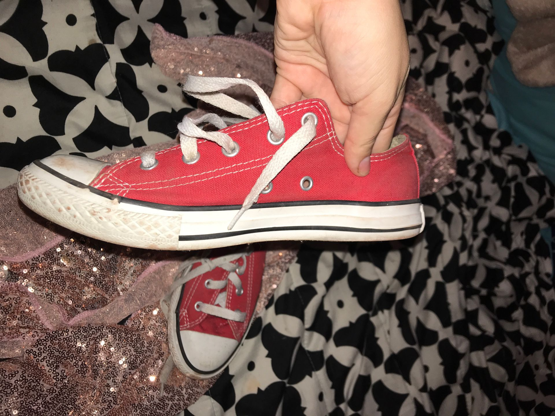 Red all star converse , for 15 bucks!