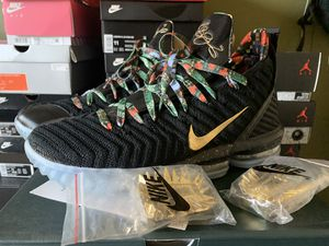 "Photo Nike Lebron 16 ""Kings Court"" ""Watch the Throne"" ""All Star"" Mens Size 11"