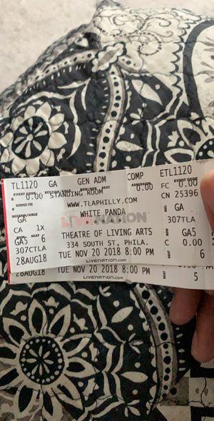 White Panda Concert Tickets! for Sale in Dumfries, VA