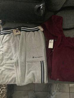 Large champion sweatz and XXL maroon polo sweater BRAND NEW Thumbnail