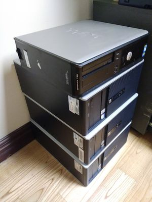 3 HP Desktop Computers with memories no hard drives for repairs for Sale in Orlando, FL