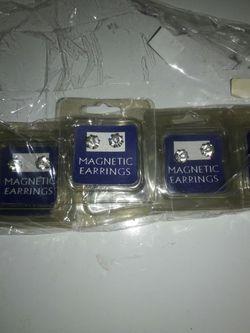 Magnetic earrings Crystal 1 pair 2$ or 6 pairs 6$ Thumbnail