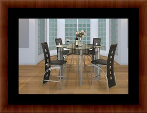 Counter height glass dining table with 4 chairs for Sale in Silver Spring, MD