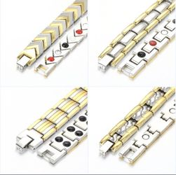 Men's Health Energy Bracelet Bangle 18K Gold Plated Magnetic Bracelet $28 each Thumbnail