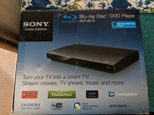 Sony BDP-BX18 1080P HDMI Blu Ray DVD Player Netflix Internet Apps Wired Ethernet for Sale in Fairfax, VA