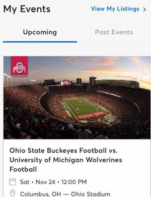 Ohio State VS Michigan 2 tickets for Sale in Lewis Center, OH