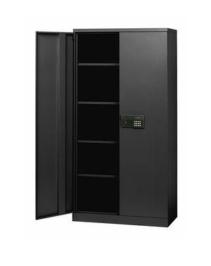 "Sandusky Lee KDE7236-09 Black Steel SnapIt Storage Cabinet, Keyless Electronic Lock, 4 Adjustable Shelves, 72"" Height x 36"" Width x 18"" Depth for sale  Rogers, AR"
