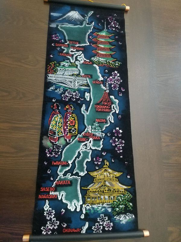 Japanese map and Thai boxing shorts  for Sale in Katy, TX - OfferUp