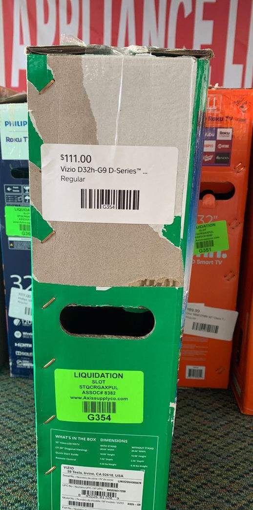 """Brand New Vizio 32""""Inch D-Series! Open box w/ warranty 5 4T"""