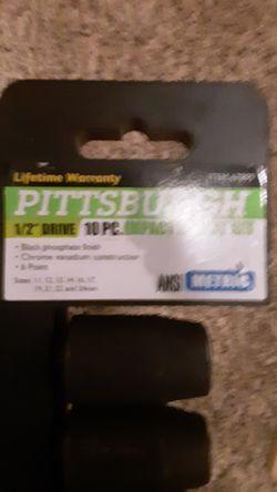 Pittsburgh half-inch drive 10 piece socket set Thumbnail