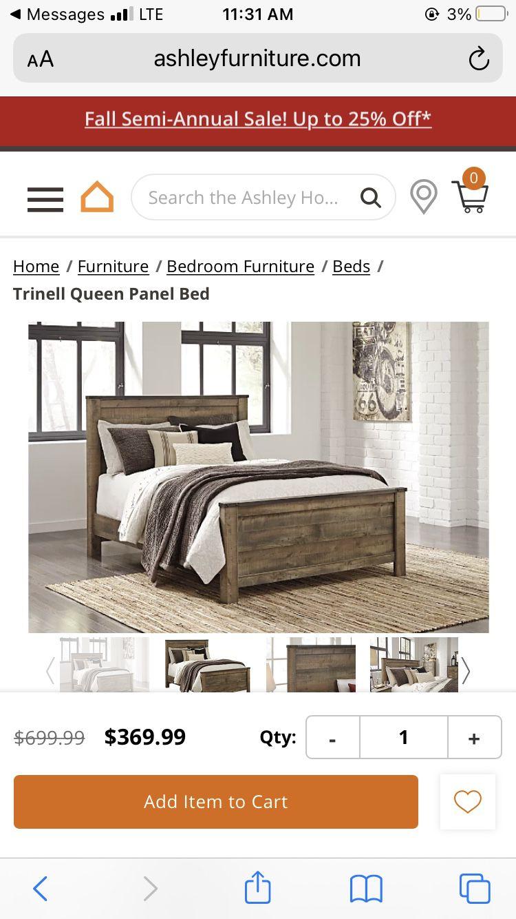 Bed Frame Ashley Furniture /  Dresser Option