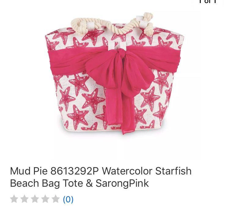 Mud pie beach bag