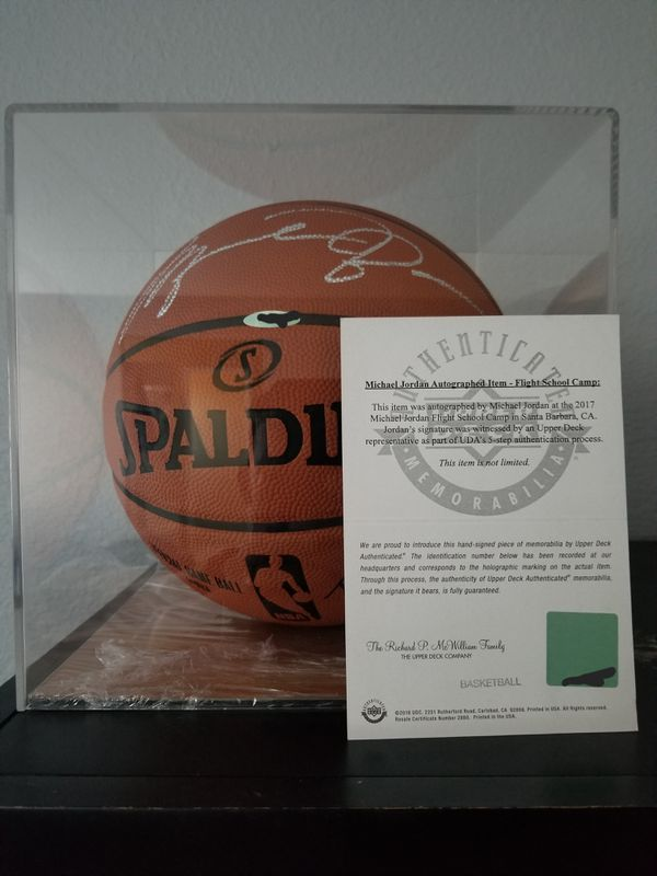 newest a13bf 85f19 Michael Jordan autographed basketball for Sale in Fontana, CA - OfferUp