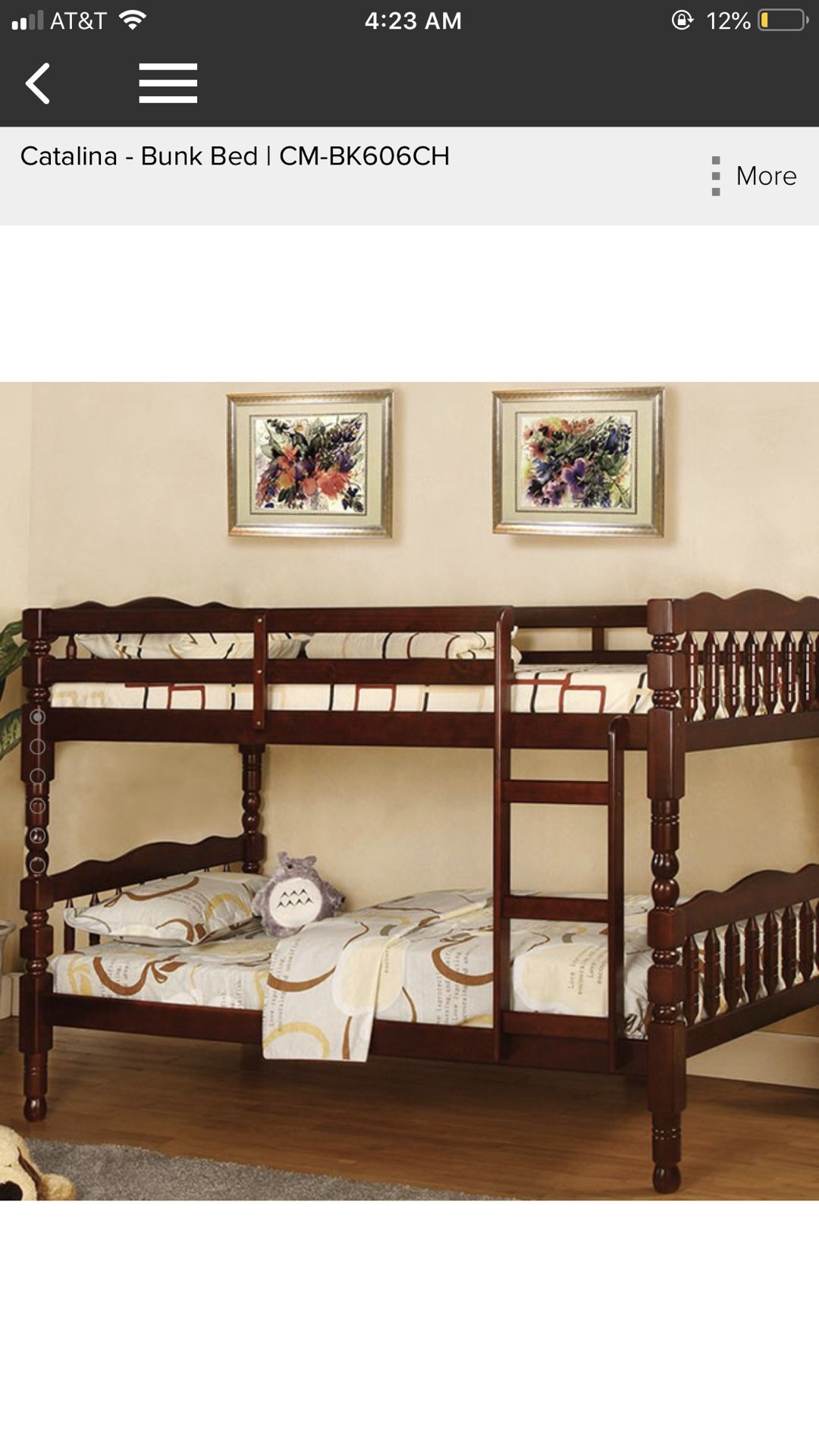 Bunk bed NEW twin/twin size