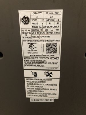 New and Used Dehumidifier for Sale in Lake Worth, FL - OfferUp Ge Model Adel Lr Schematic Diagram on