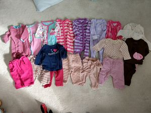 Winter clothes girls 3-6 months for Sale in Montgomery Village, MD