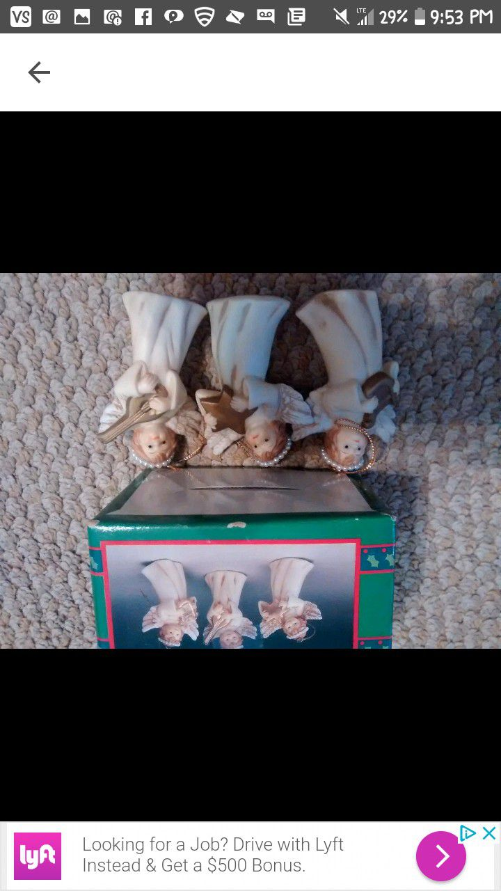 New Vintage Collectible House of Llyods 92 mint 3 Angels