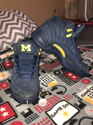 "46dec965492d50 Jordan retro 12 s ""Michigan s"" Size 11 for Sale in Zanesville"