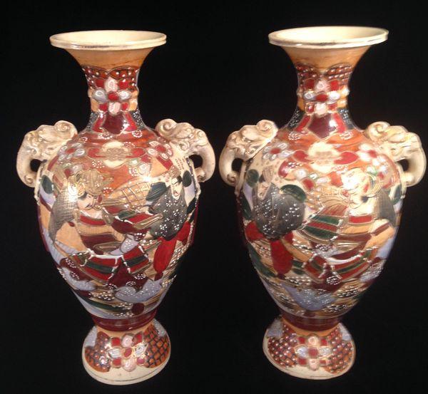 vintage satsuma vase
