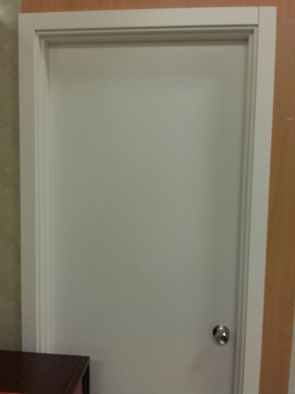 Plain White Pre Finished Interior Doors With Frame Trim